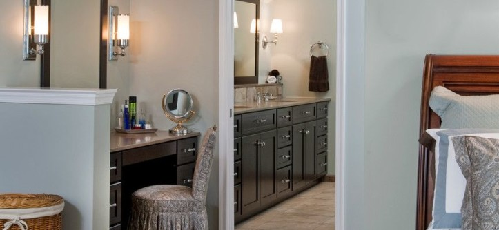Hot Springs Spa Nc for a Eclectic Bedroom with a Bathroom Mirror and Natural Simplicity Master Bath Remodel: Chester Springs, PA by HomeTech Renovations, Inc.