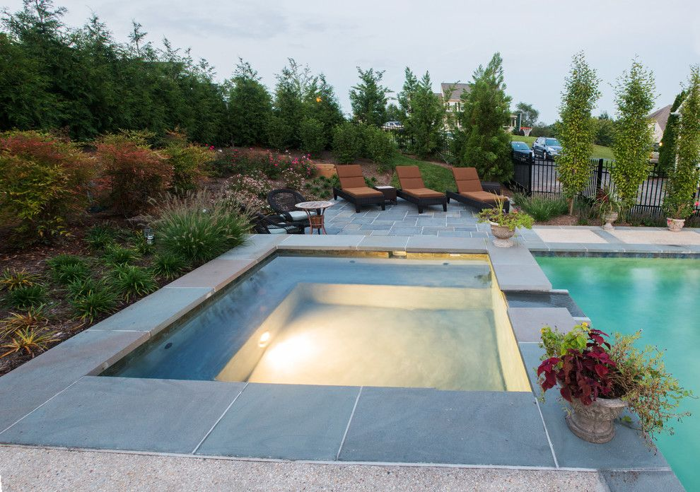 Hot Springs Spa Nc for a Traditional Pool with a Landsaping and Custom Spa by D & a Dunlevy Landscapers, Inc.