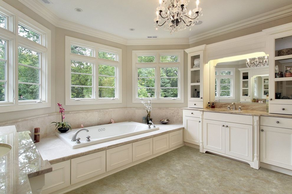 Hot Tubbing for a Traditional Spaces with a Tile and Bathroom by Carpet One Floor & Home