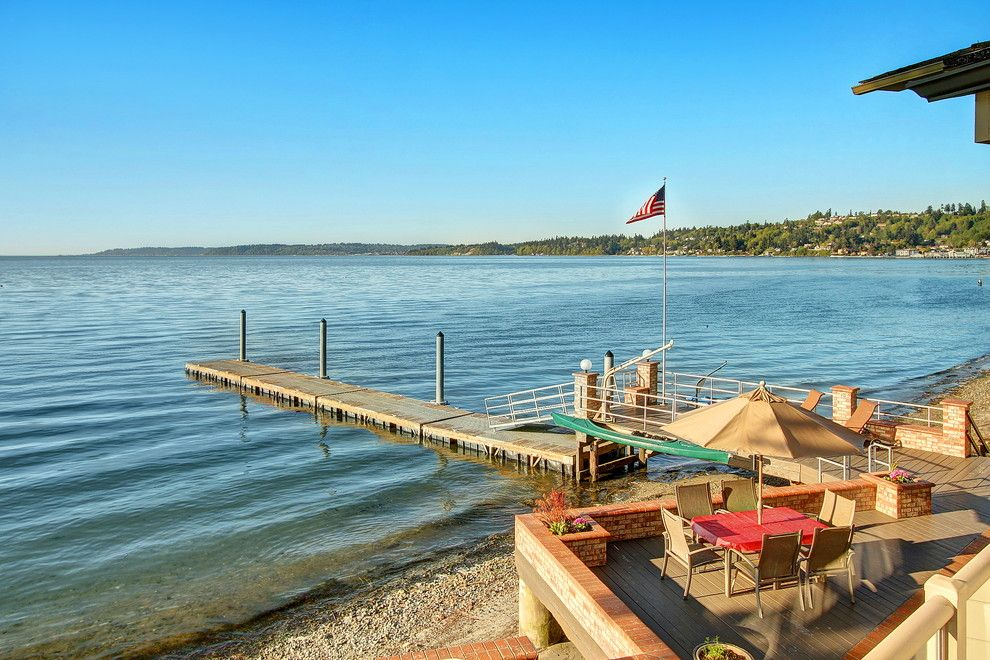Hot Yoga Federal Way for a Contemporary Patio with a Dock and Sold   Contemporary Redondo Waterfront   200 Sw 292nd St   Federal Way, Wa by Ohrt Real Estate Group   Keller Williams