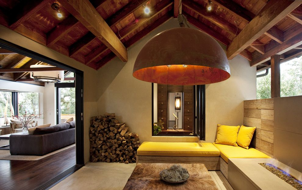 Hot Yoga Federal Way for a Rustic Patio with a Ceiling and the Hillside House by Sb Architects