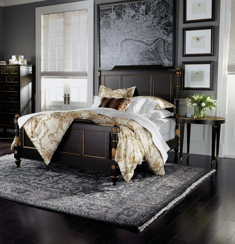 How Long is a Twin Xl Bed for a Traditional Bedroom with a Black Frames and Ethan Allen by Ethan Allen