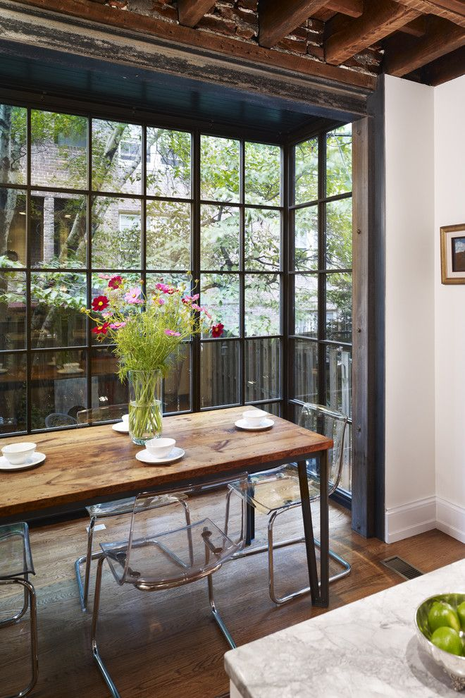 How Much Does It Cost to Reupholster a Chair for a Contemporary Kitchen with a Wild Flowers and West Philadelphia Kitchen by Hanson Fine Building