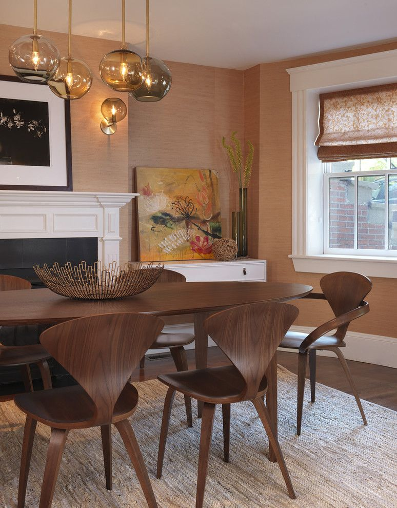 How Much Does It Cost to Reupholster a Chair for a Transitional Dining Room with a Cherner Table and Dining Room by Rachel Reider Interiors