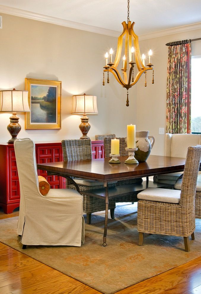 How Much Does It Cost to Reupholster a Chair for a Transitional Dining Room with a Server and Lorraine Vale by LORRAINE G VALE, Allied ASID
