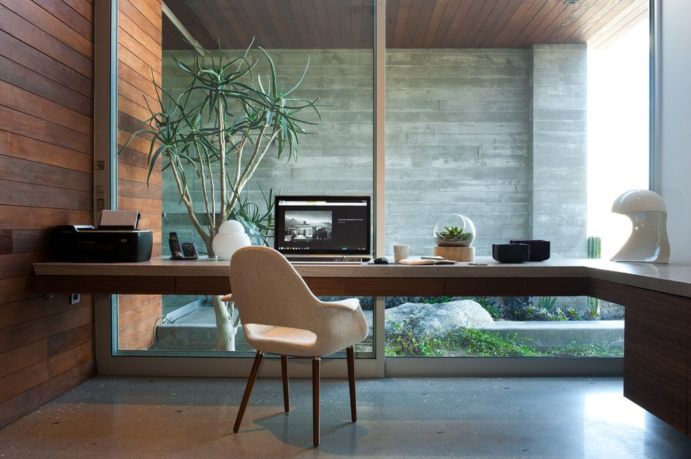 How to Build a Terrarium for a Modern Home Office with a Glass Wall and F 5 Residence by Studio Ar+D Architects