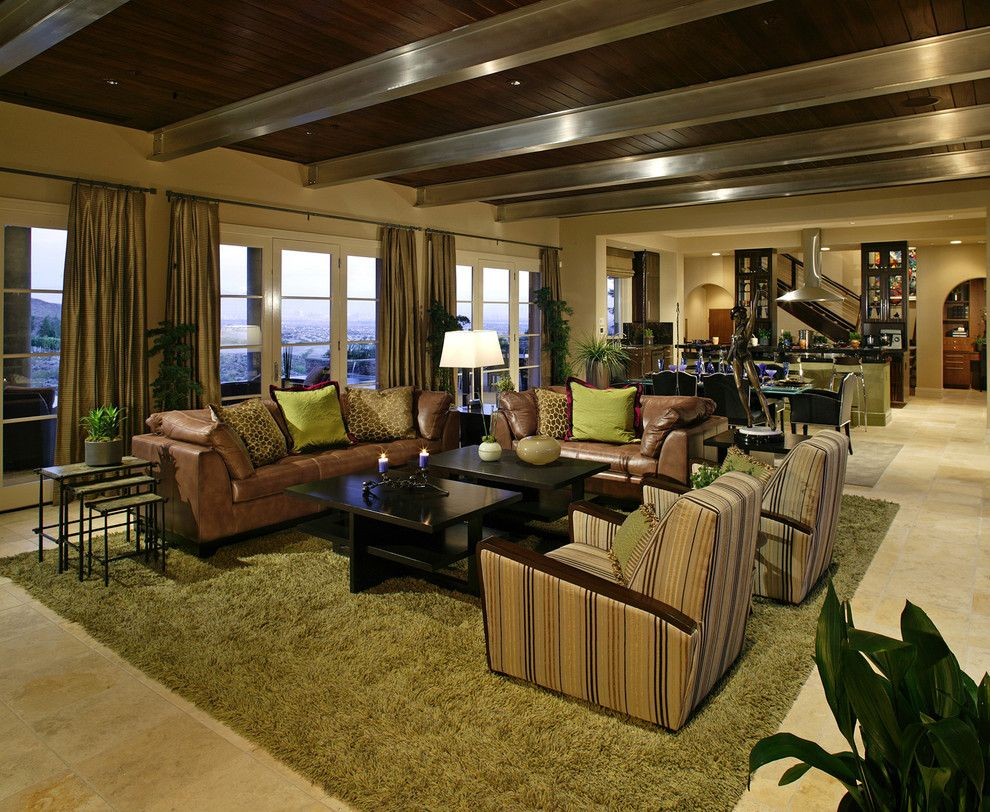 How to Clean a Shag Rug for a Contemporary Family Room with a French Doors and Macdonald Ranch Custom Home by Sennikoff Architects, Inc.
