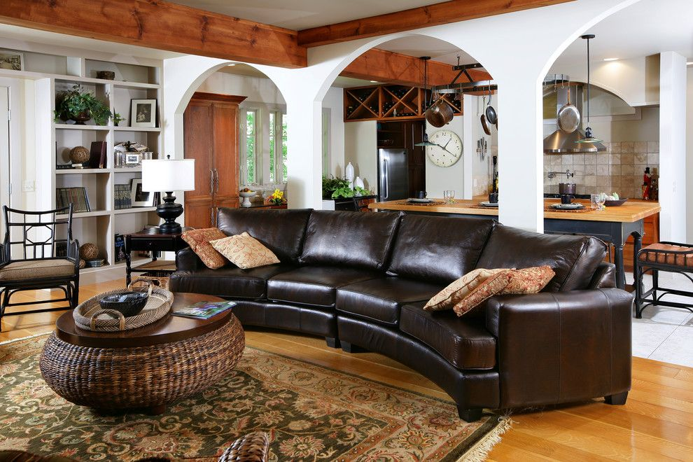 How to Clean Couch Cushions for a Traditional Living Room with a Wood Flooring and Various by Gallery Interiors and Rockford Kitchen Design