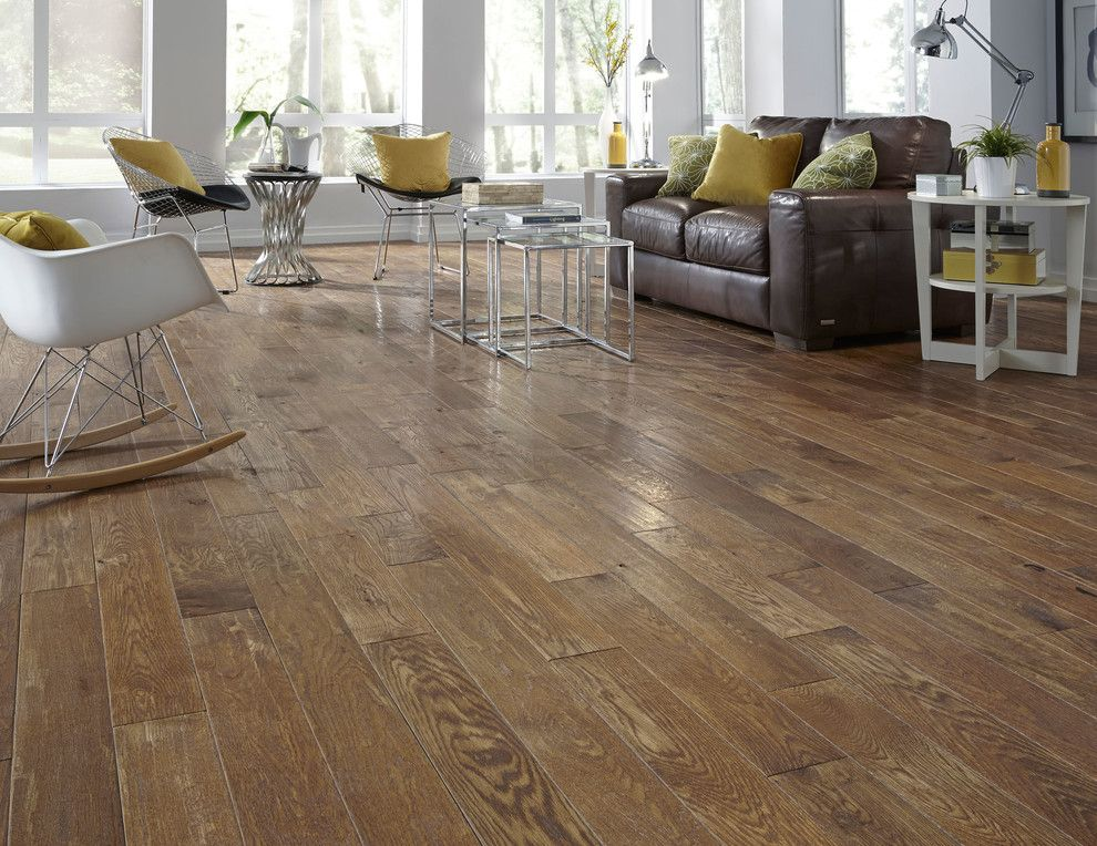 How to Clean Pergo Floors for a Contemporary Family Room with a Nesting Tables and Virginia Mill Works Co.  3/4