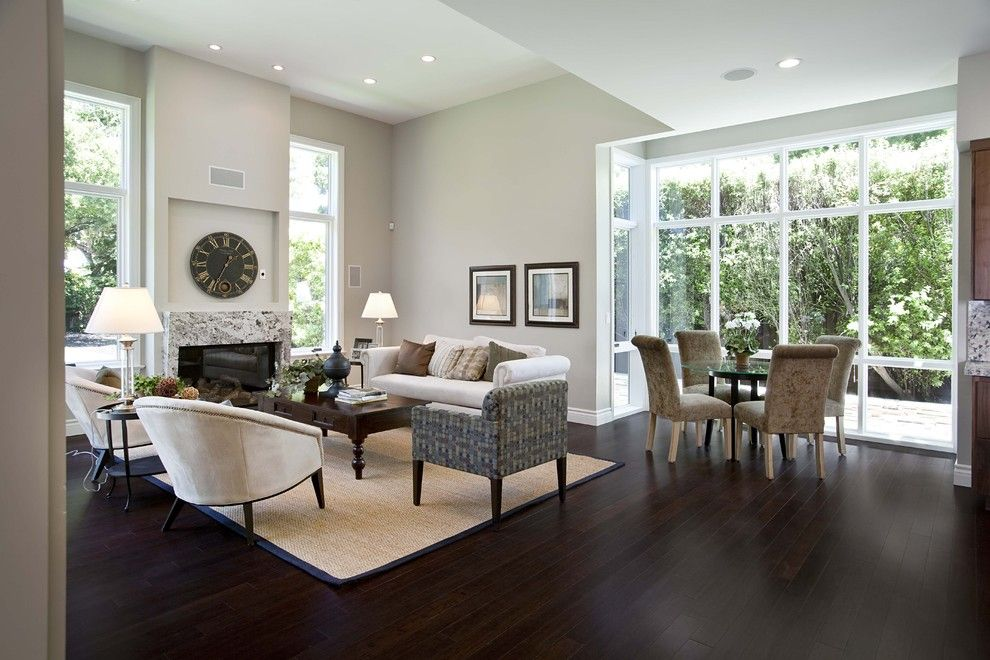 How to Clean Pergo Floors for a Contemporary Family Room with a Neutral Colors and Family/breakfast by Mark English Architects, Aia