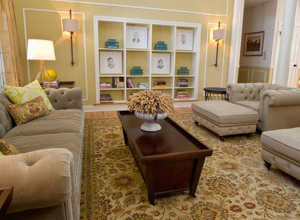 How to Clean Shag Rug for a Transitional Living Room with a Transitional and Living Room by K. D. Ellis Interiors