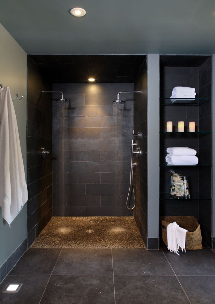 How to Clear a Clogged Drain for a Contemporary Bathroom with a Baseboards and Bathroom Basement by Nf Interiors
