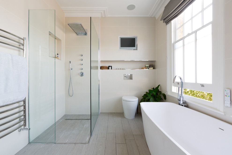How to Clear a Clogged Drain for a Contemporary Bathroom with a Spa Like and Contemporary Bathroom by Granit.co.uk