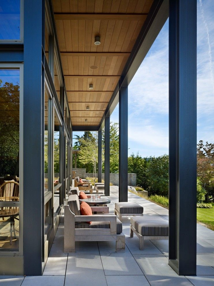 How to Clear a Clogged Drain for a Modern Porch with a Chair and Lake House Two   Exterior by Mcclellan Architects