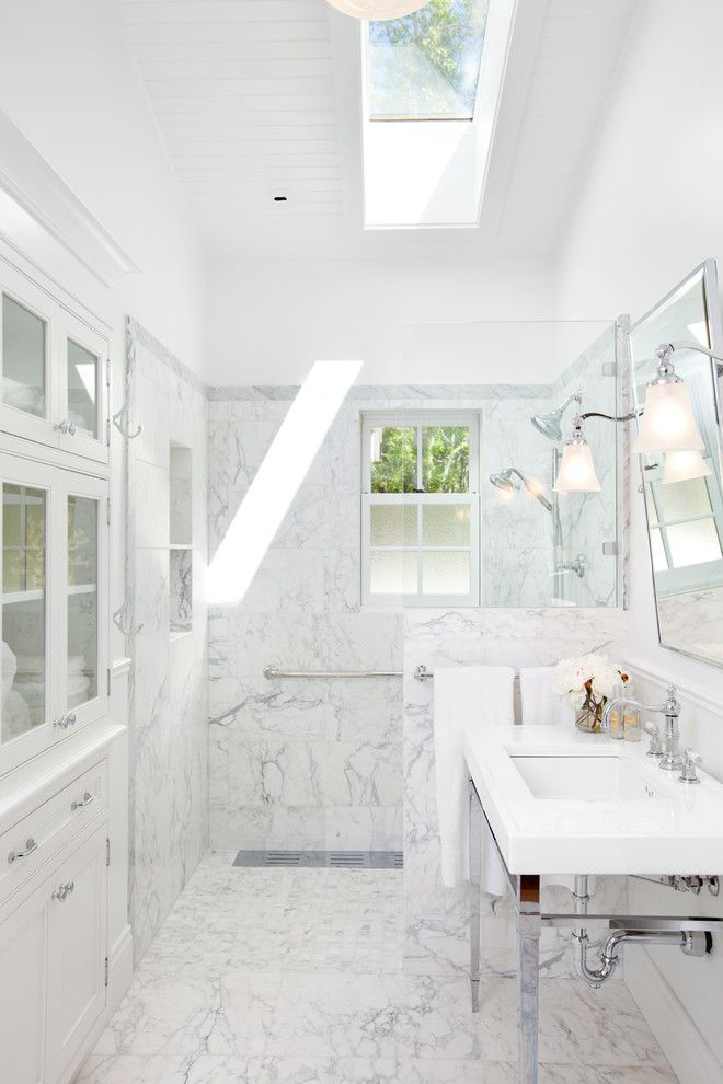 How to Clear a Clogged Drain for a Traditional Bathroom with a Canada and Waterfront Estate by Jodi Foster Design + Planning
