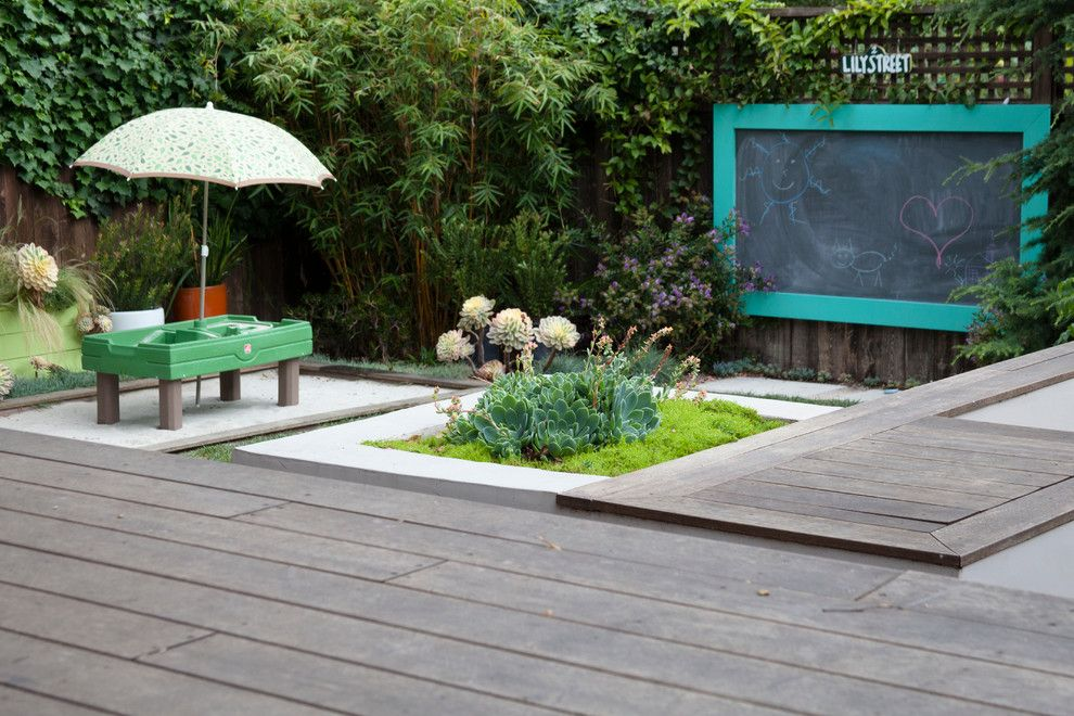 How to Dry Hydrangeas for a Contemporary Deck with a Modern Planter and Contemporary Craftsman, Pt. Loma by Revive Landscape Design
