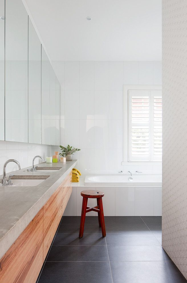 How to Fix a Clogged Sink for a Contemporary Bathroom with a Academy Tiles and Martin House by Bg Architecture
