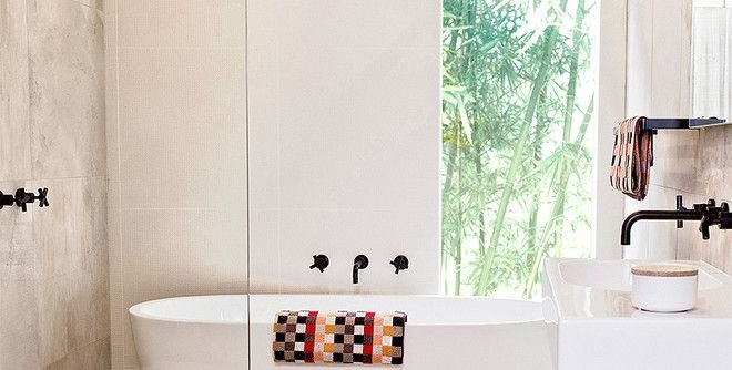 How to Fix a Clogged Sink for a Contemporary Bathroom with a Pendant Light and Pretty Peace by GIA Bathroom & Kitchen Renovations