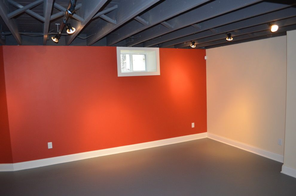 How to Fix a Hole in Drywall for a Contemporary Basement with a Contemporary and Minneapolis Basement by Excel Builders