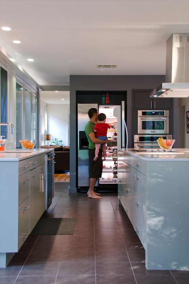 How to Fix Hole in Drywall for a Contemporary Kitchen with a Neutral Colors and Modern Kitchen by Webberstudio.com