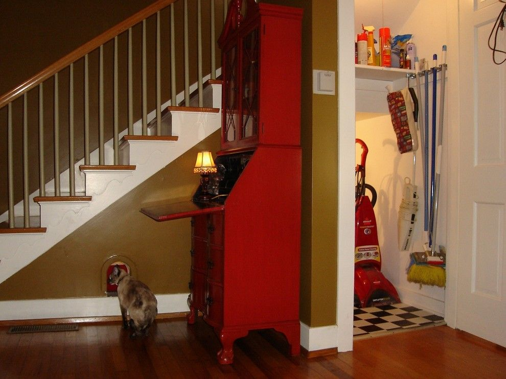 How to Fix Holes in Drywall for a Traditional Staircase with a Traditional and Hidden Cat Retreat by Kelly