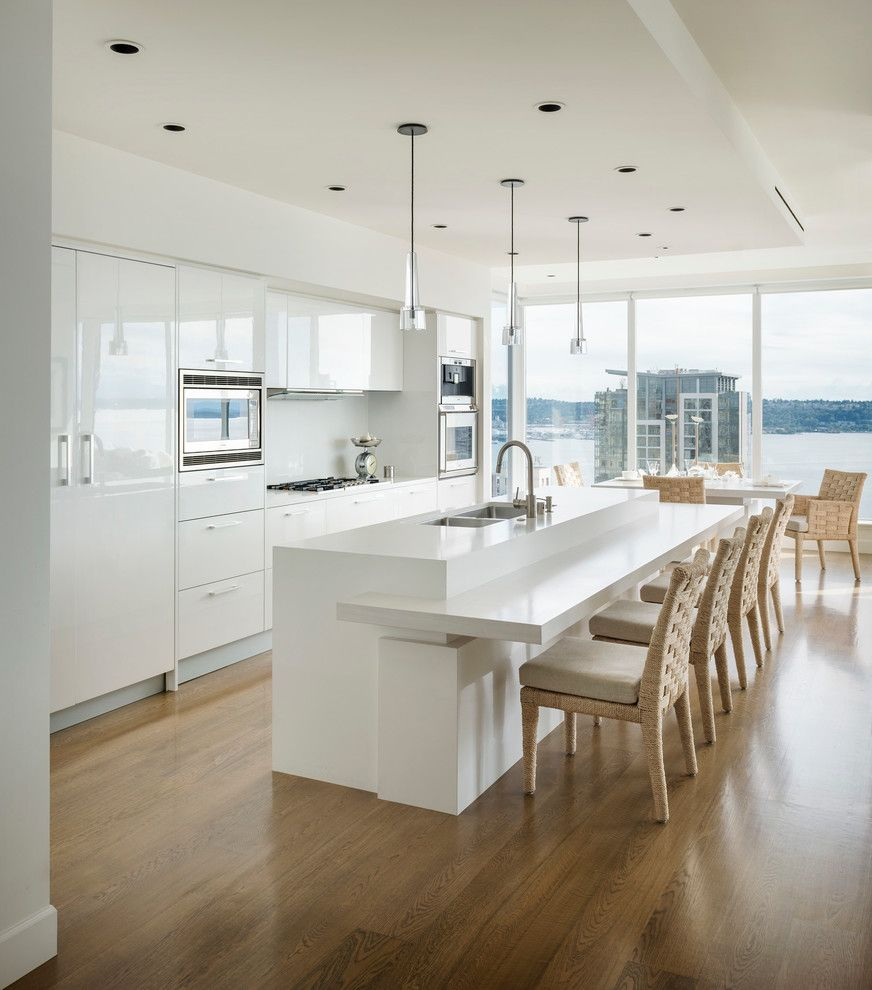 How to Get Rid of Ants in Kitchen for a Contemporary Kitchen with a Tone on Tone and White Wash by Christian Grevstad Inc.