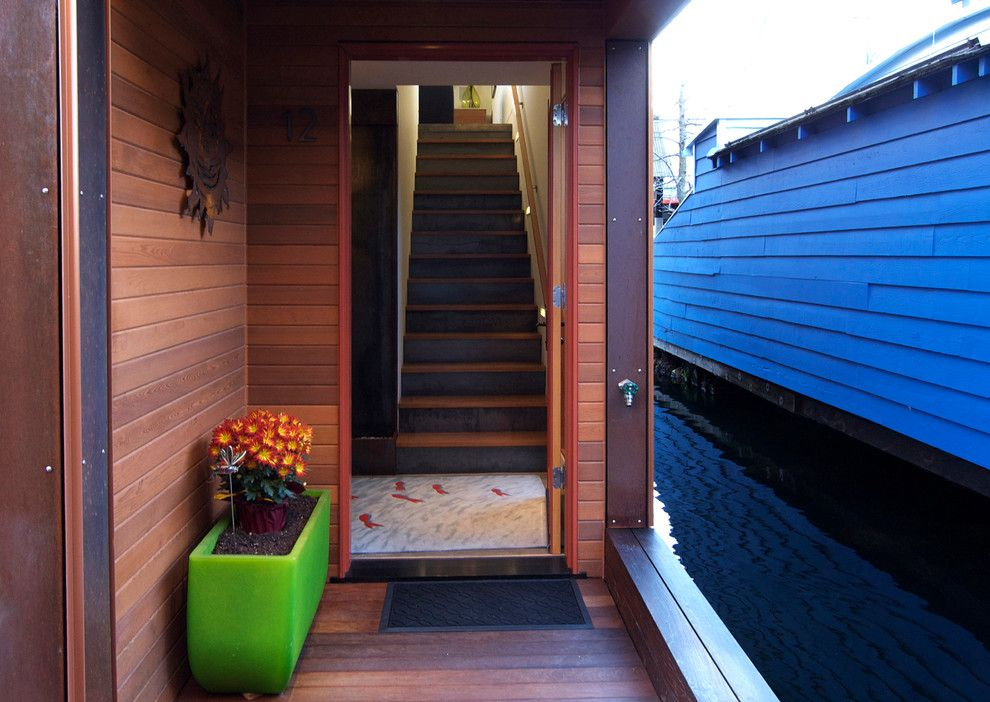How to Get Rid of Cat Spray Smell for a Contemporary Entry with a Contemporary and Seattle Houseboat by Terrene Homes