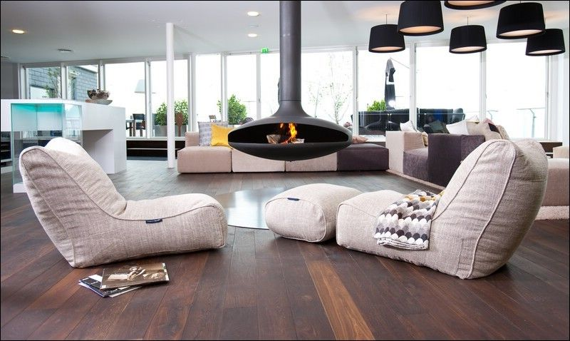 How to Get Rid of Cluster Flies for a Contemporary Living Room with a Hanging Fireplace and Ambient Lounge Denmark Showroom by Ambient Lounge