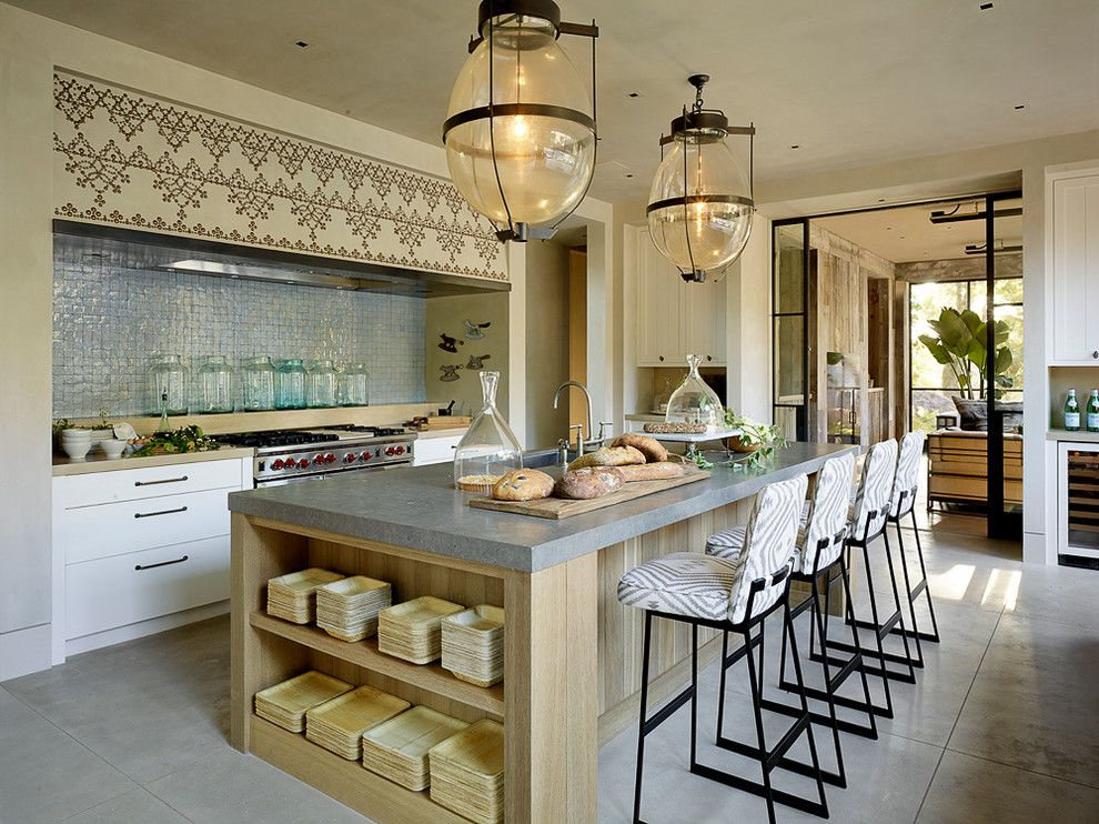 How to Get Rid of Cluster Flies for a Mediterranean Kitchen with a Storage Island and Sonoma by Ken Linsteadt Architects