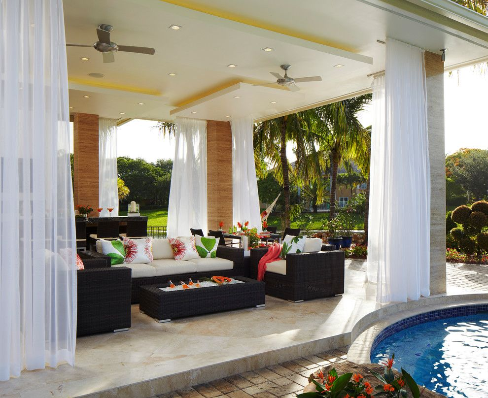 How to Get Rid of Mosquitoes in the House for a Tropical Patio with a Woven Furniture and Contemporary Outdoor Dining by Innovative Designs