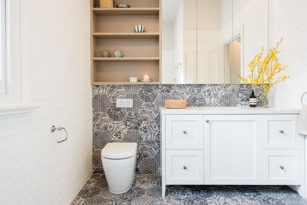 How to Get Rid of Mosquitoes in Your House for a Transitional Bathroom with a Caesar Stone and North Carlton Renovation by Eat.bathe.live