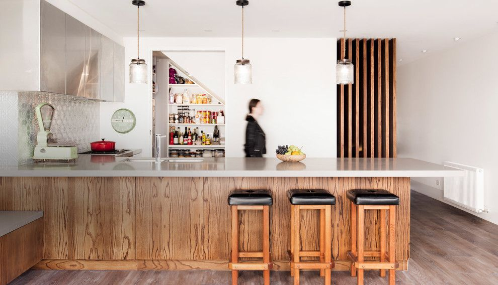 How to Get Rid of Moths in Pantry for a Midcentury Kitchen with a Heritage Cottage and Port Melbourne Heritage Cottage by Alexandra Buchanan Architecture