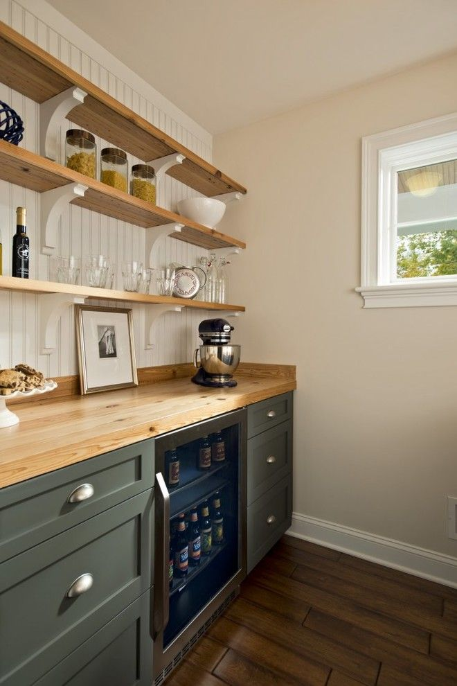 How to Get Rid of Moths in Pantry for a Traditional Kitchen with a Bead Board and 2013 Saratoga Showcase of Homes   Executive Homes Runner Up    Best Kitchen by Columbia Cabinets