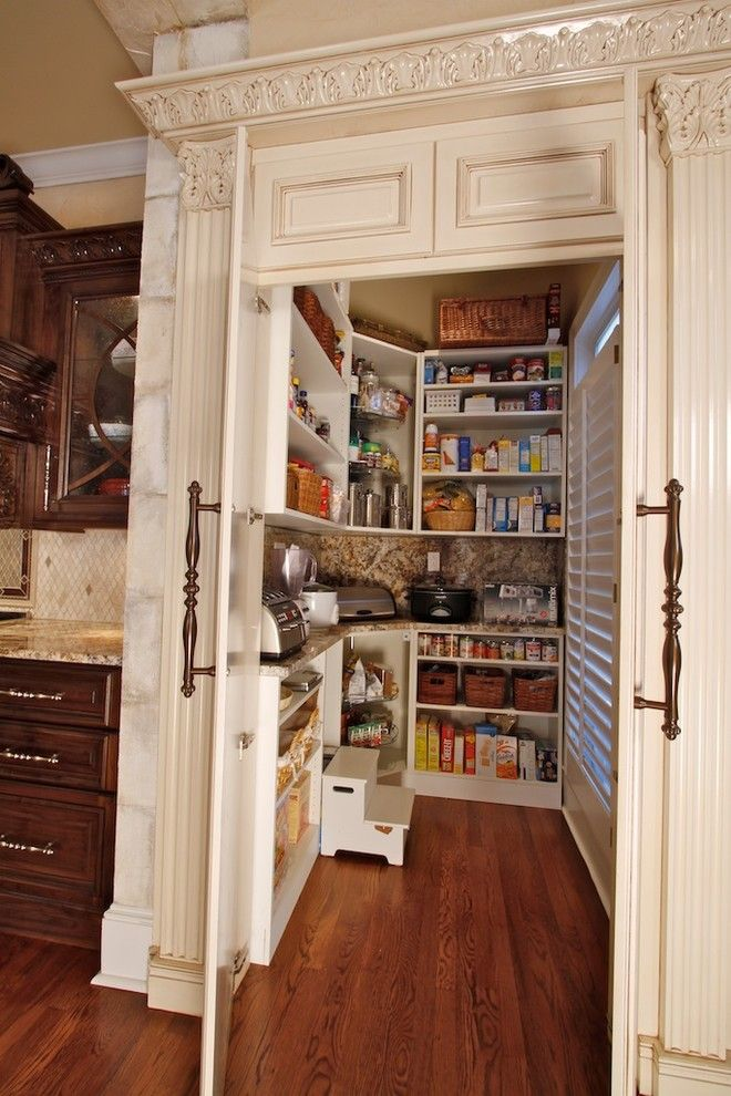 How to Get Rid of Moths in Pantry for a Traditional Kitchen with a Double Stacked Granite and Traditional Kitchen by Chrishousley.com