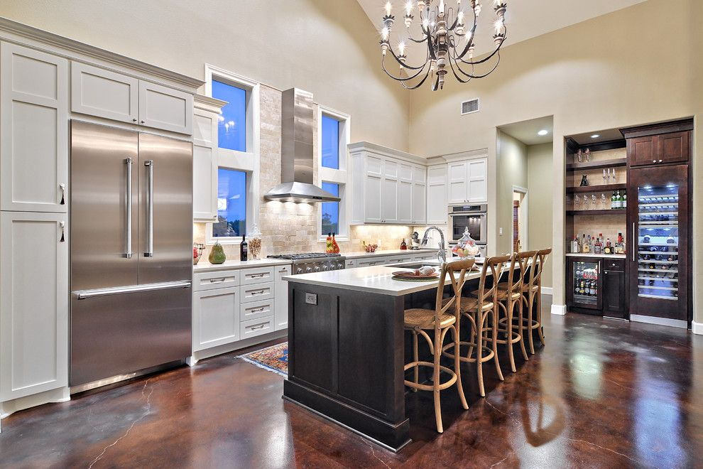 How to Get Rid of Popcorn Ceiling for a Contemporary Kitchen with a Beige Walls and Thermador by Thermador Home Appliances