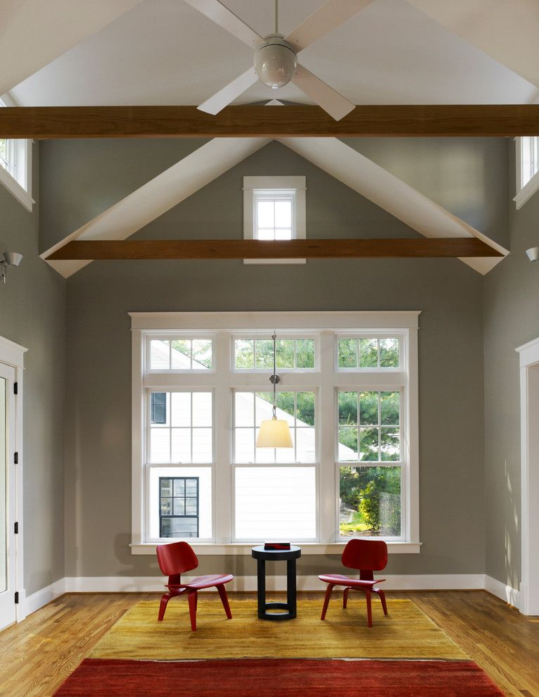 How to Get Rid of Popcorn Ceiling for a Modern Living Room with a Modern Living Room and Columbia Street Family Room by Moore Architects, Pc