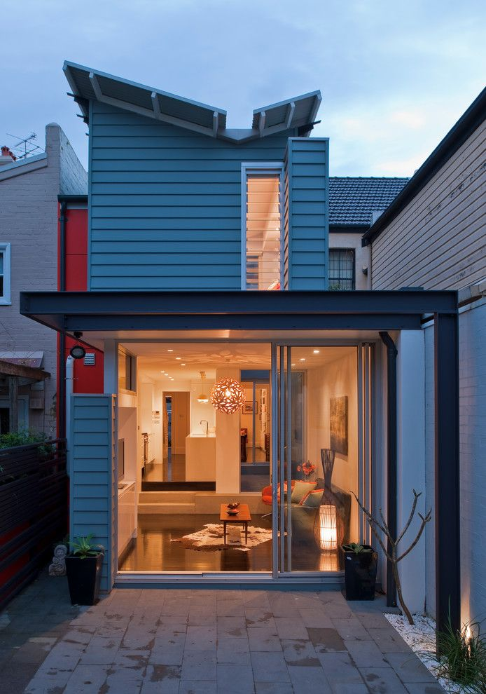 How to Get Skunk Smell Out of House for a Contemporary Exterior with a Sliding Door and Paddington Butterfly House by Michelle Walker Architects
