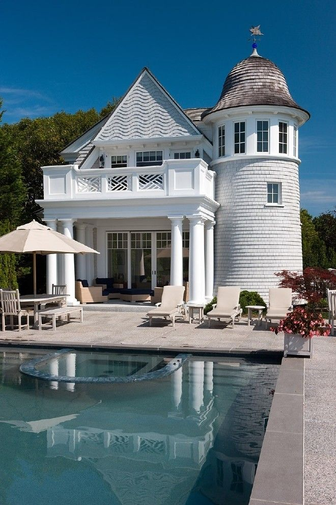 How to Get Skunk Smell Out of House for a Victorian Pool with a Patio Umbrella and Osterville Residence by Catalano Architects