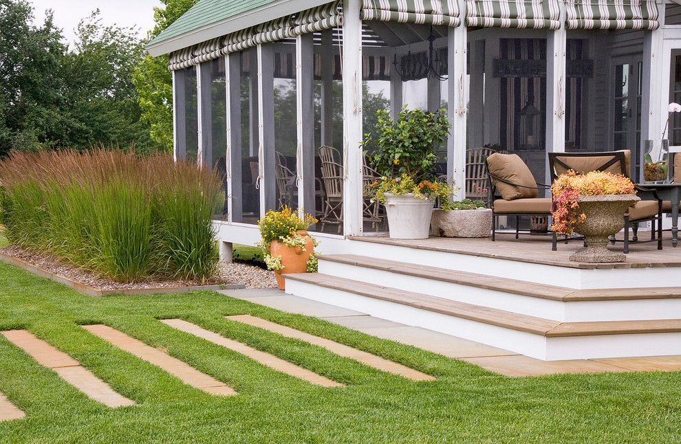 How to Grow Beets for a Contemporary Porch with a Stones Walling and Porch with Native Grasses by Craig Bergmann Landscape Design