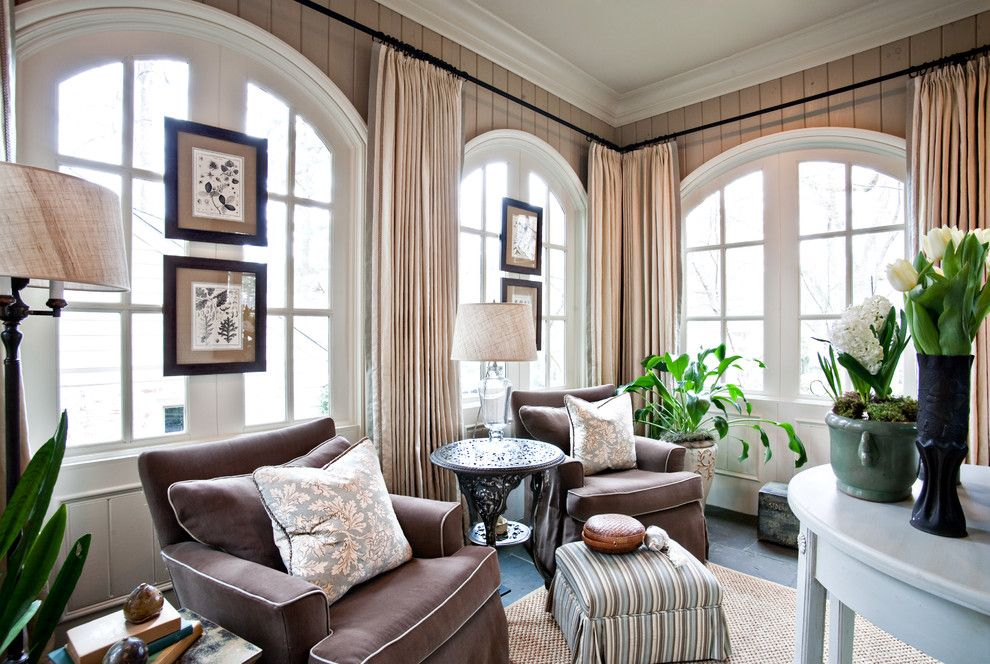 How to Install Curtain Rods for a Traditional Family Room with a Traditional and Sherry Hart by Sherry Hart