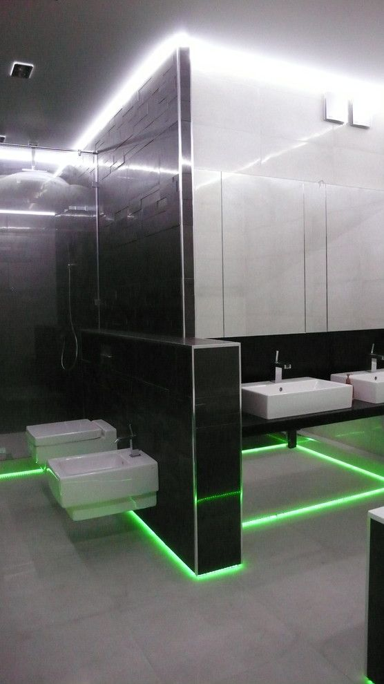 How to Install Linoleum for a Contemporary Spaces with a Modern and Led Strip Light by Ovchinnikov Eugene N.