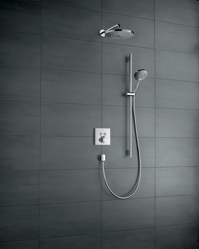 How to Install Linoleum for a Modern Bathroom with a Handshower and Hansgrohe by Hansgrohe USA