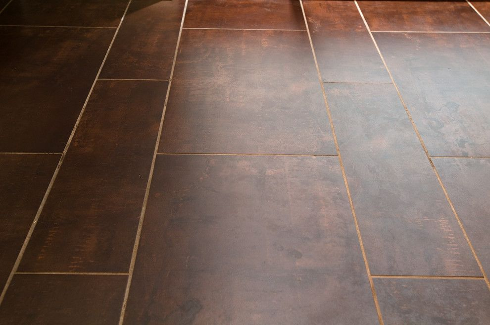 How to Install Linoleum for a Modern Spaces with a Ceramic Tile and Ipswich Cc Bathrooms by Kristina Crestin Design