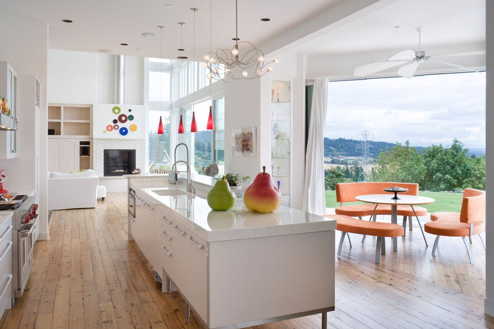 How to Install Pergo Flooring for a Contemporary Kitchen with a Open Floor Plan and Brunstrom Residence by Alan Mascord Design Associates Inc