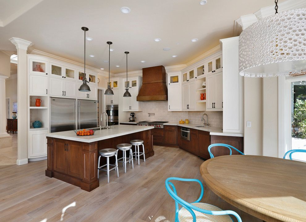 How to Install Pergo Flooring for a Traditional Kitchen with a Curved Cabinets and First Place Winner by Trg Architects