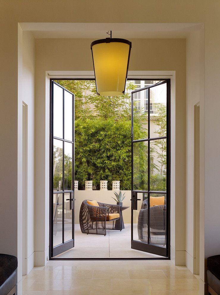 How to Install Prehung Door for a Contemporary Patio with a Orange Cushions and Pacific Avenue Residence   San Francisco, Ca by Bar Architects