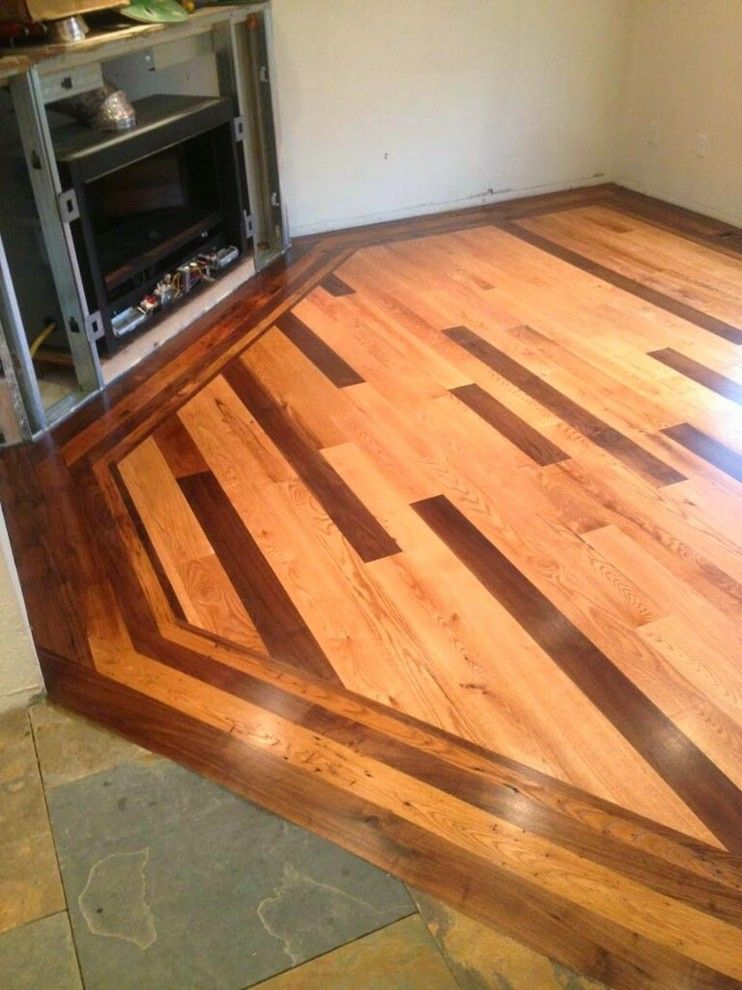 How to Lay Hardwood Floors for a Modern Living Room with a Chestnut and Custom Multi Species in Layed Hardwood Floor by Colorado Custom Floors