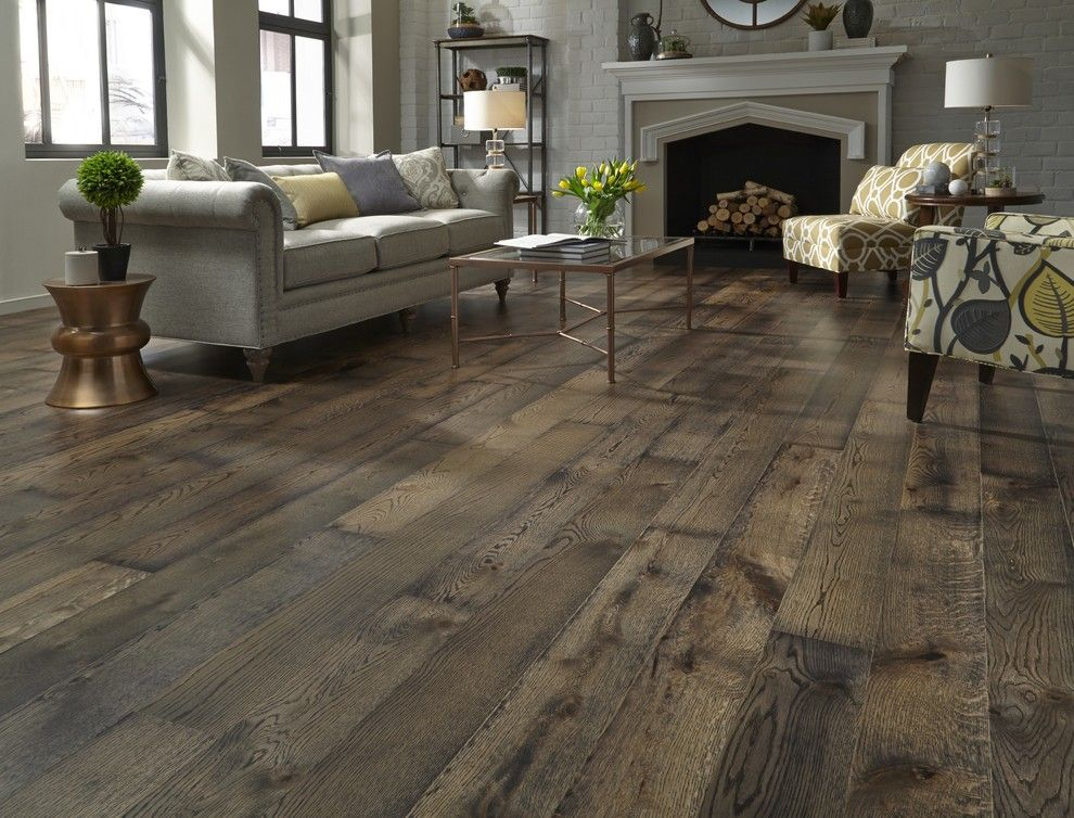 How to Lay Laminate Floor for a Contemporary Living Room with a White Painted Brick and Lumber Liquidators by Lumber Liquidators