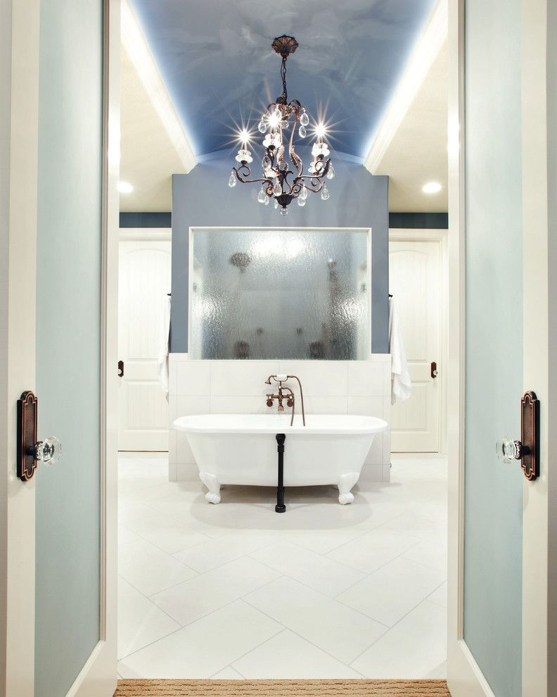 How to Lay Laminate Floor for a Traditional Bathroom with a Door and Renaissance Homes Street of Dreams by Becki Kerns, Asid, Leed Ap
