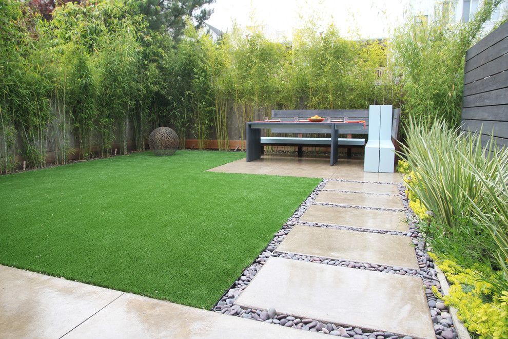 How to Lay Pavers for a Contemporary Landscape with a Grasses and Modern San Francisco Living by Boxleaf Design, Inc.